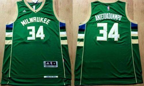 reputable site e7a60 b3a99 Revolution 30 Bucks #34 Giannis Antetokounmpo Green Stitched ...